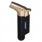 HONEST Windproof Butane Jet Torch Lighter - Black + Golden