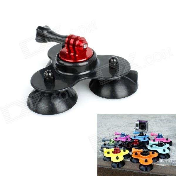 BZ BZC 3-Suction Cup Aluminum Alloy Car Adapter Holder for Gopro Hero 4/ 2 / 3 / 3+ / SJ4000 - Black кабель aux belsis jack 3 5 m jack 3 5 f 10 м