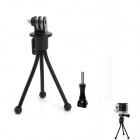 JUSTONE Mini 4-inch Metal Tripod Stand Holder for Camera / GoPro Hero 3+ / 3 / 2 / 1 - Black