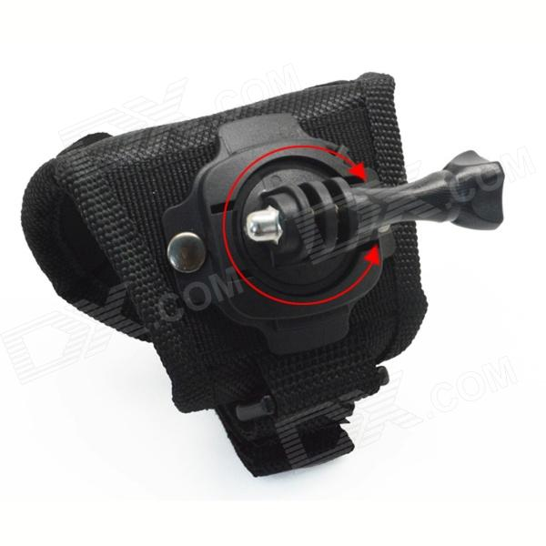 BZ127L 360 Degree Rotation Hand Strap Holder for Gopro Hero 4/ 3+ / 3 / 2 / 1 / SJ4000 - Black