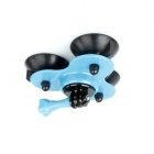 BZ BZC 3-Suction Cup Aluminum Alloy Car Adapter Holder for GoPro Hero 2/3/3+/SJ4000 - Light Blue