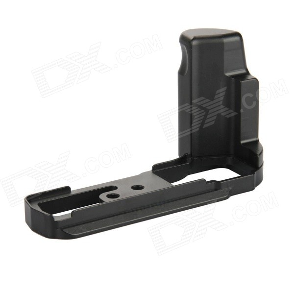 DUALANE Quick Release Plate / L Bracket / Hand Grip for Olympus OM-D E-M5 Tripod Ballhead - Black vertical l type bracket tripod quick release plate base perfect for nikon d300 d700 with battery grip mb d10 pt090