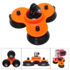 M-TS Super Triple-Cup Advanced Suction Mount for Gopro Hero 4/ 3+/3/2/1/SJ4000 - Black + Orange