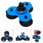 Fat Cat M-TS Super Triple-Cup Advanced Suction Mount for GoPro Hero 3+/3/2/1/SJ4000 - Black + Blue