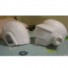 Daft Punk 1:1 DIY Handmade Paper Mould Cosplay Wearable Guy - White
