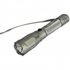 Sidina Cree 1-LED 230lm 5-Mode White Light Flashlight w/ Strap - Grey (1 x 18650)