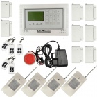 Wireless Defense Zone GSM Home Security Alarm System LCD Touch Keypad - White