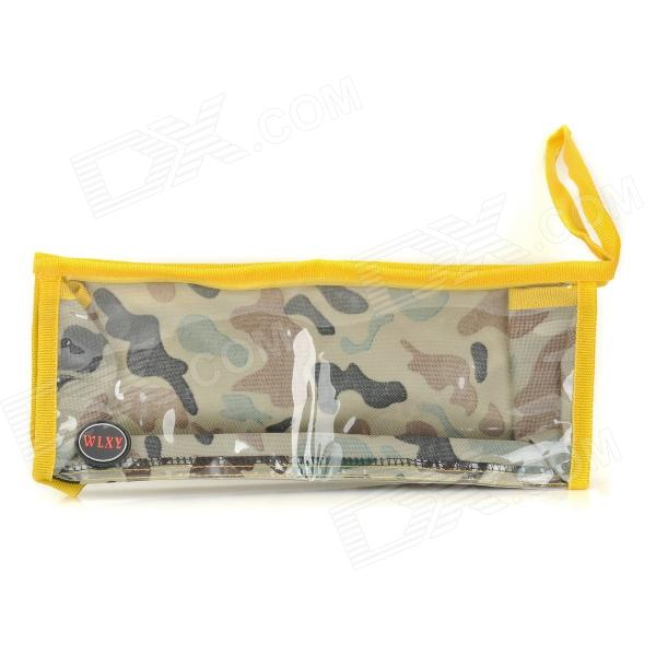 WLXY WL-05 Portable Multifunctional Oxford Fabric PVC Tool Kit / Bag / Workbag - Camouflage tool bag electric kit waterproof buffer kit nylon open tote bucket organizer electrician pockets portable pack oxford toolkit