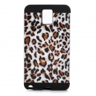 Leopard Pattern Protective PVC + Silicone Back Case for Samsung Galaxy Note3 N9000 - Black + White