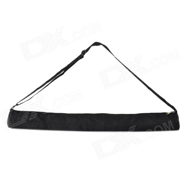 Outdoor Portable Nylon + Rubber Lamp Holder Tripod Single Shoulder Bag w/ Zipper - Black (L)