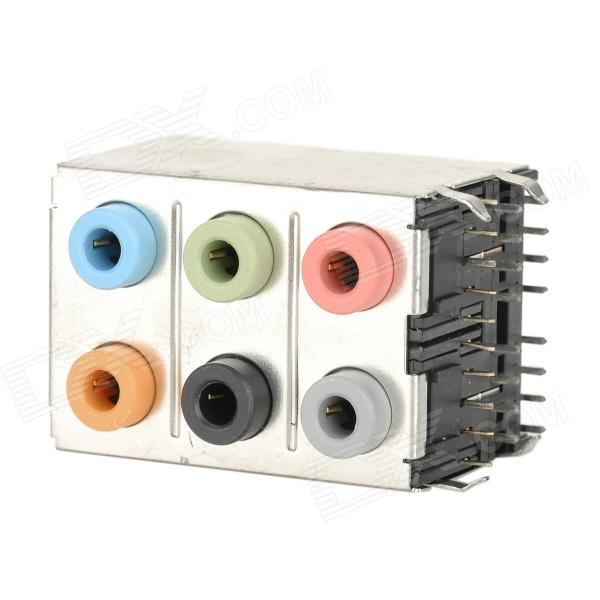 SK 001 7.1 Sound Channel + 6 Audio Ports Soundcard Connector for Computer Mainboard