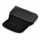 Protective Flip Open Split Leather Waist Phone Bag for Samsung Galaxy S5 - Black