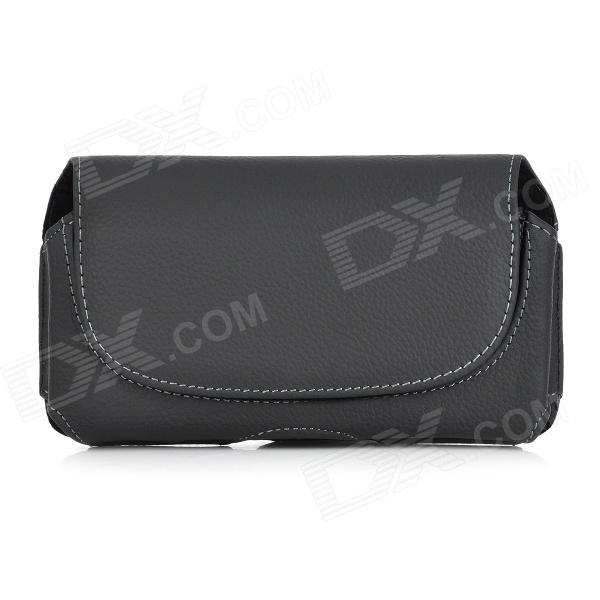 Fashionable Flip Open Protective Split Leather Bag for Samsung Galaxy Note3 N9000 - Black alzenit scx 4200 for samsung 4200 oem new drum count chip black color printer parts on sale