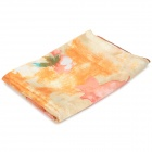 Ink Painting Pattern Silk Long Scarf - Golden + Multicolored