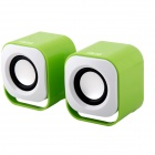 BLUELOVER S1700 Mini USB Speakers - Green