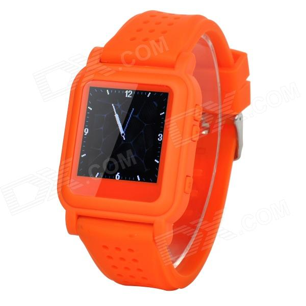 цена на Q998 1.5 TFT Screen MP4 Multimedia Wristwatch - Orange + Silver (2GB / Li-ion Battery)