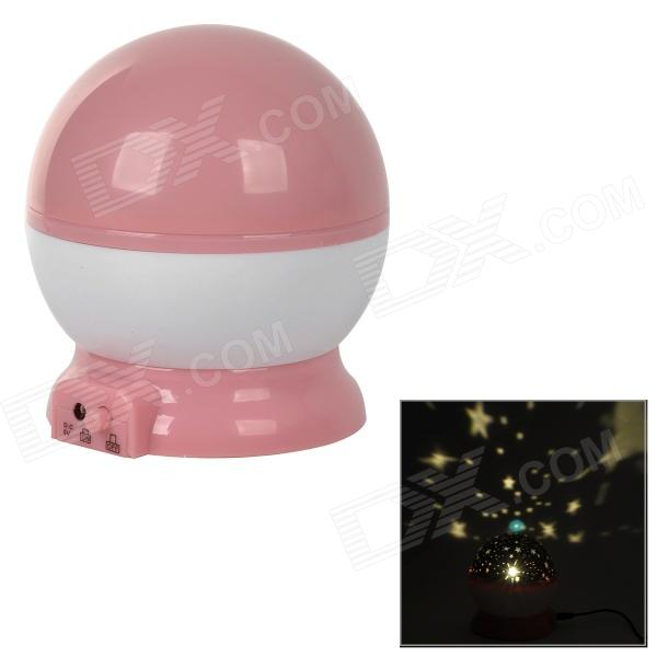 WY-YE-GUANG-DENG Stylish Fantasy 1-LED Yellow Glow-in-the-Dark Night Lamp - Pink + White (4 x AAA)