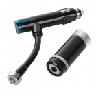 "0.8"" Screen Car Audio Converter Charger Bluetooth V3.0 Handsfree FM Transmitter w/ MP3 - Black"