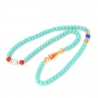 Fenlu LSS-028 Women's Fashionable Artificial Tophus Chain Bracelet - Light Blue