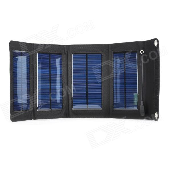 Miniisw SW07B 7W 5V Fold-up USB Solar Panel Charger - Black