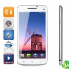 "W-92 Android 4.4 Octa-core WCDMA Bar Phone w/ 5.0"" Screen, Wi-Fi, GPS, RAM 2GB and ROM 16GB - White"