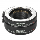 VILTROX DG-1N 10mm / 16mm Auto Extension Tube Set for Nikon J1 / J2 / V1 - Black + Silver