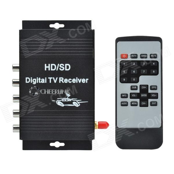 CHEERLINK ATSC-MH 4-Video HD / SD Dual-Antenna Car Digital TV Receiver Box - Black