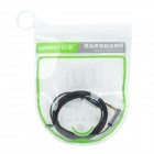 UGREEN 10597 3.5mm (I Shape) Male to 3.5mm Male (L Shape) Flat Fine Stereo Audio Cable - Black