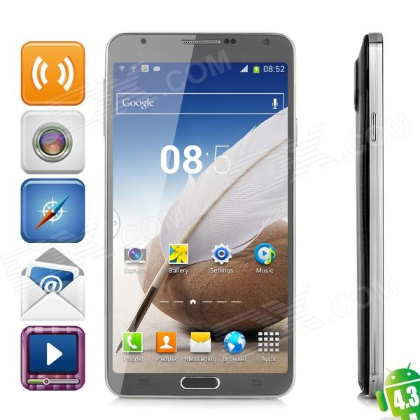 "GuoPhone G9092 Octa-Core Android 4.3 WCDMA Phone w/ 5.7"" Screen, Wi-Fi, RAM 2GB, ROM 16GB - Black"