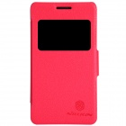 NILLKIN Protective PU Leather + PC Case Cover w/ Visual Window for SONY Xperia E1 D2105 - Red