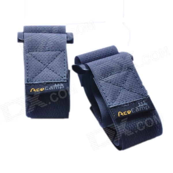 Acecamp 9112 Velcro Buckle Nylon Compression Belt - Grey + Black (2 PCS)