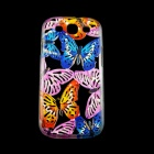 A1LJ Butterfly Style Protective Plastic Back Case for Samsung Galaxy S3 i9300 - Blue + Pink
