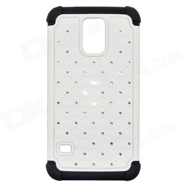Protective Plastic Back Case for Samsung Galaxy S5 - White + Black protective plastic back case for samsung galaxy s5 mini black