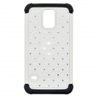 Protective Plastic Back Case for Samsung Galaxy S5 - White + Black