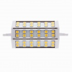 HZT-8023 R7S 8W 630lm 3000K 36-SMD 5050 LED Warm White Light Corn Bulb - Silver (AC 85-265V)