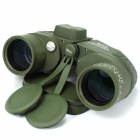 Boshile 10 x 50 Binocular Waterproof Floating Compass Ranging Telescope - Army Green