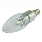 LZ-01 E14 3W 280lm 6000K 6-SMD 5730 LED White Light Candle Lamp Bulb - White (AC 100~240V)