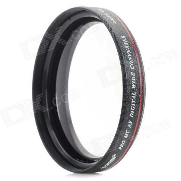 Universal 72mm 0.45X Wide Angle Lens for Camera / DV - Black universal 77mm 0 45x wide angle lens for camera dv black