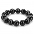 Fenlu HMN-018 Men's Shiny Agate Beads Bracelet - Black (8cm-Length)