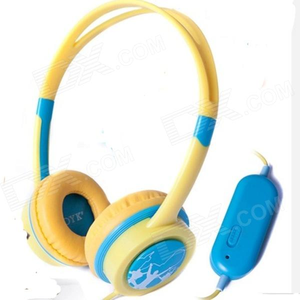 OYK OK-403 Wired Headband Children's Music Headphones with Volume Control - Blue + Yellow oh my god it s electro house volume 4