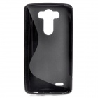 """S"" Style Protective TPU Back Case for LG Optimus G3 - Black"