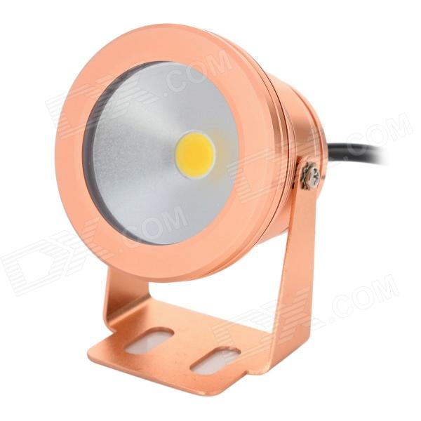 FY 012 10W 550lm 3000K 1-LED Warm White Underwater Lamp - Golden (DC 12~24V)