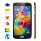 "No.1 S7 MTK6582 Quad-Core Android 4.2.2 WCDMA Phone w/ 5"", 1GB RAM, 16GB ROM, Dual Cameras - Golden"