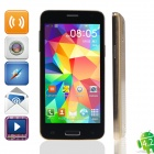 "Mini S5 MTK6589 Quad-Core Android 4.2.2 Bar Phone w/ 4.5"" QHD, Wi-Fi, OTG - Golden"