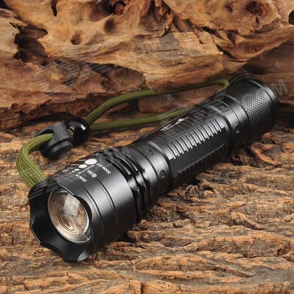 UltraFire 875 450LM LED Cool White 5-mode Flashlight - Black (1 x 18650 / 3 x AAA)