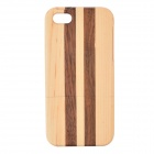 Protective Wood Back Case for IPHONE 5 / 5S - Brown + Yellow