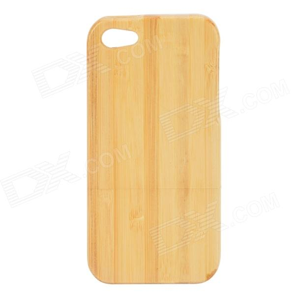 Protective Bamboo Back Case for IPHONE 5 / 5S - Light Yellow