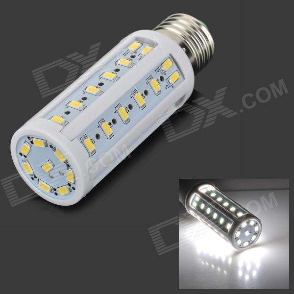 E27 10W 700lm 6500K 50-SMD 5730 LED White Light Corn Bulb - White + Silvery Grey (AC 220V) e27 10w 950lm 6500k 56 smd 5730 led white corn lamp white silvery grey ac 220 240v