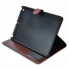 Kwen iao111 Protective PU + Tuch Fall w / Stand / Auto-Schlaf für IPAD AIR - Dunkelblau + Brown