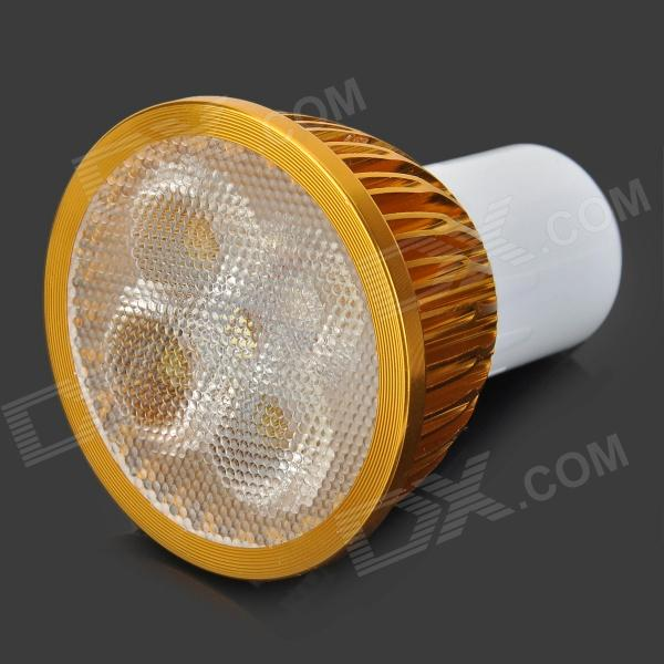 LetterFire GU5.3 4W 4-LED 320LM 6500K Aluminum Alloy White Light Bulb - Golden + White (AC 85~265V)